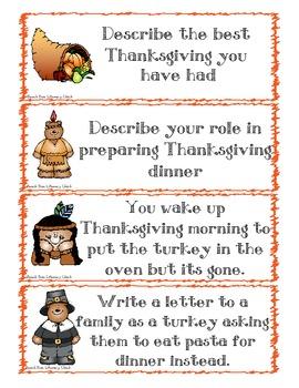 Thanksgiving Writing Activity