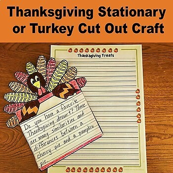 Thanksgiving Writing Activity Compare and Contrast