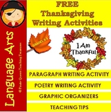 Thanksgiving Writing Activity FREEBIE
