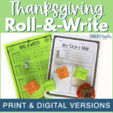 Thanksgiving Writing Activity - Roll & Write Center