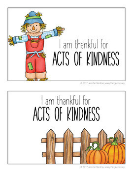 Thanksgiving Writing Activity | Thankful for Kindness | Thanksgiving Activities