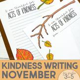 Kindness Activities | Kindness Poster | November | Thanksgiving Activities