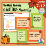 Thanksgiving Writing Activity for Hybrid/Distance Learning