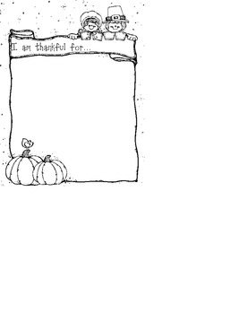 Thanksgiving Writing Activity for Young Minds
