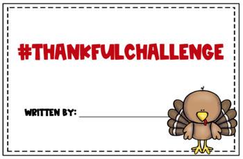 Thanksgiving Writing Booklet #thankfulchallenge