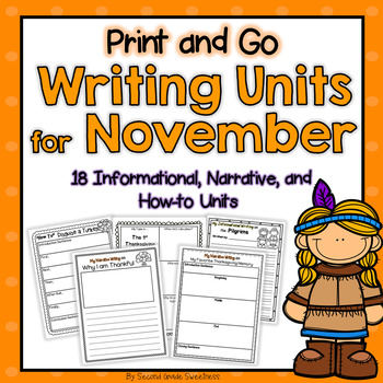 Thanksgiving Writing Bundle (How-To, Informational, and Narrative)