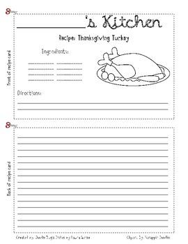 Thanksgiving Writing CC W.1.1 - W.4.1   W.1.2 - W.3.2  and  W.1.3 - W.4.3