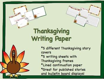 Thanksgiving Writing Center Activity
