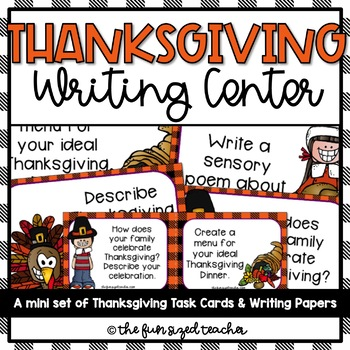 Thanksgiving Writing Center Mini Set