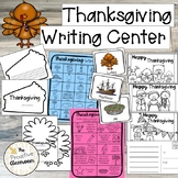 Thanksgiving Writing Center, Word Wall Cards, Writing Prom
