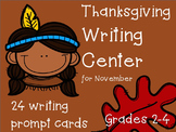 Thanksgiving Writing {Center: Writing Prompts, & Paper}