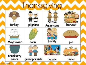Thanksgiving Writing Chart