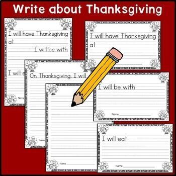 Thanksgiving Writing Craftivity: Cut & Glue a Turkey; Narrative Writing