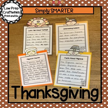 Thanksgiving Writing Cut and Color Craftivities