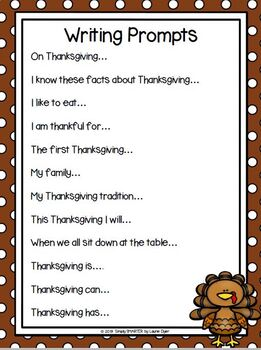 Thanksgiving Writing Cut and Paste Craftivity