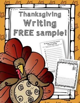 Thanksgiving Writing Free