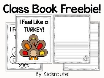 Thanksgiving Writing Freebie~ Feelin' Like a Turkey!