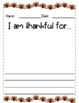 Thanksgiving Writing Freebie (Spanish and English)