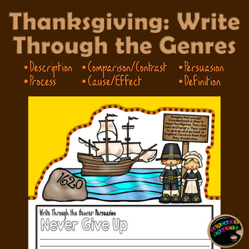 Thanksgiving Writing Genres: Activity and Bulletin Board Display