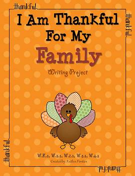 Thanksgiving Writing - I Am Thankful for My Family