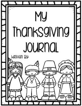 Thanksgiving Writing Journal