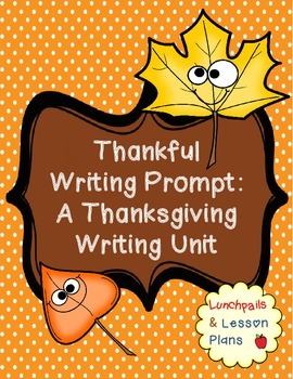 Thanksgiving Writing Lesson