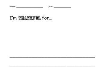 Thanksgiving Writing Mini-Pack