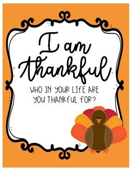 Thanksgiving Writing - NO PREP