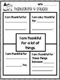 Thanksgiving Writing Organizer