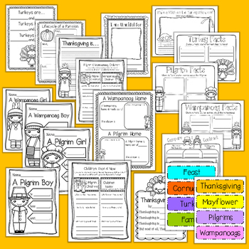 Thanksgiving Writing Pack - 1st & 2nd Grade