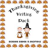 Thanksgiving Writing Pack -- Cute Turkey Border Paper & Fi