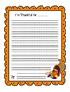 Thanksgiving Writing Pack {Editable}