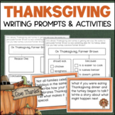 Thanksgiving Writing Activities Differentiated for Kindergarten, 1st, 2nd Grade