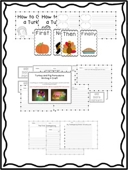 First Grade Thanksgiving Writing