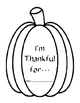 Thanksgiving Writing Page Pumpkin Craftivity