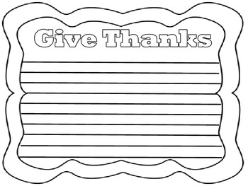 Thanksgiving Writing Pages