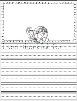 Thanksgiving Writing Pages and Booklet