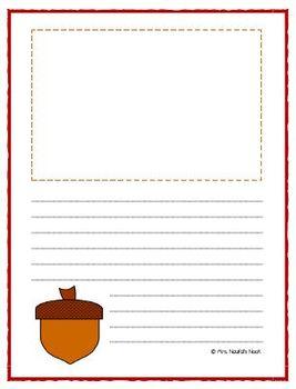 Writing Paper Thanksgiving