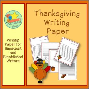 Writing Paper Templates - Thanksgiving Theme