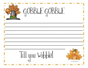 Thanksgiving Writing Paper 2