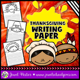 Thanksgiving Craftivities (Thanksgiving Writing Paper)