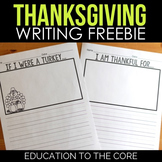 Thanksgiving Writing Paper | I Am Thankful For | If I Were