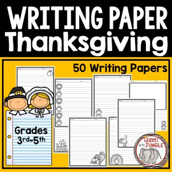 Thanksgiving Writing Paper 3rd-5th