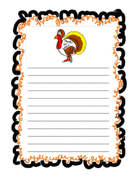 Thanksgiving Writing Paper Bundle