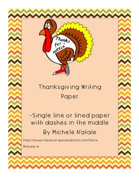 Thanksgiving Writing Paper-I am Thankful For..