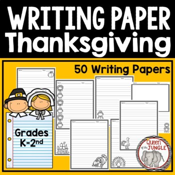Thanksgiving Writing Paper K-2nd