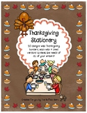 Thanksgiving Stationery- Lined Writing Paper with Fun Borders to Color!