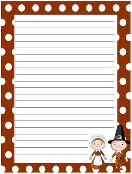 FREE Thanksgiving Writing Paper - Pilgrims and Natives by Carrie ...
