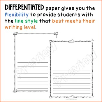 Thanksgiving Writing Paper - Primary