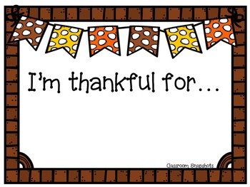 Thanksgiving Writing Paper and Graphic Organizer